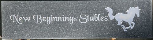 Stone-like Engraved Corian Stable Door Signs| The Sign Maker Shop.